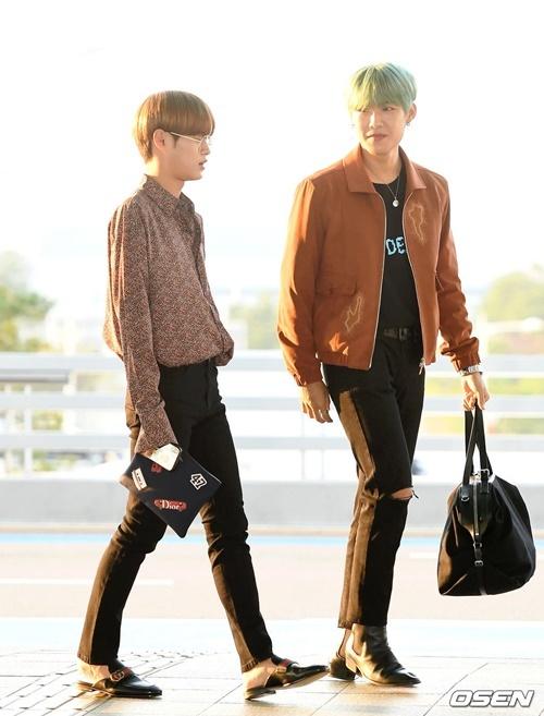 Lee Dae Hwi (đeo kính) và Park Woo Jin.