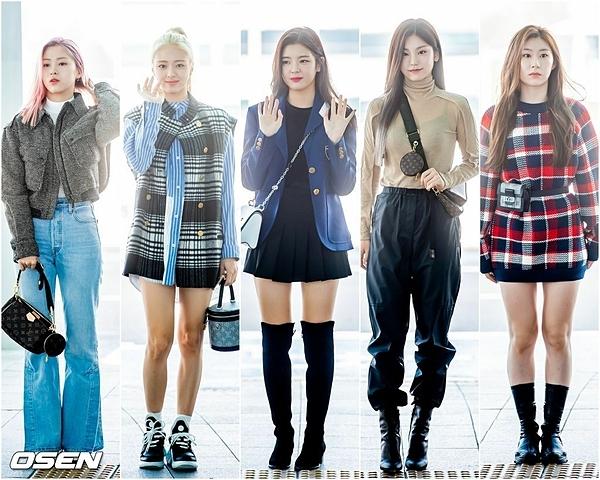 Sáng 30/9, ITZY xuất phát từ sân bay Incheon lên đường sang Pháp dự Paris Fashion Week. Girlgroup nhà JYP là khách mời của thương hiệu Louis Vuitton.