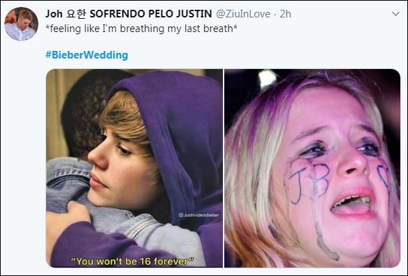 Các fan khóc ròng trong ngày Justin Bieber tổ chức đám cưới với Hailey Baldwin.