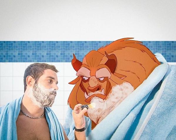 Ngày rảnh rối thì cạo râu cùng quái vật.