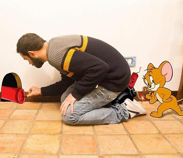 Khi bạn bị chuột Jerry chơi xấu.