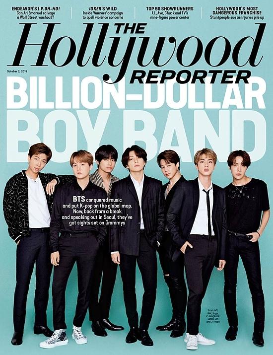 BTS trên trang bìa tạp chí The Hollywood Reporter số tháng 10/2019,