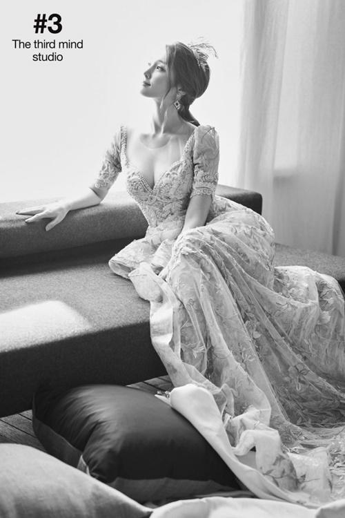 Ah Reum xinh đẹp trong ảnh cưới mới công bố.