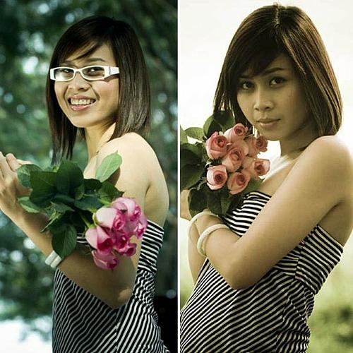 Lưu Hương Giang sinh năm 1983, nổi lên từ cuộc thi Sao Mai điểm hẹn 2004. Thời mới vào nghề, cô sở hữu nhan sắc mộc mạc, không để lại nhiều dấu ấn.