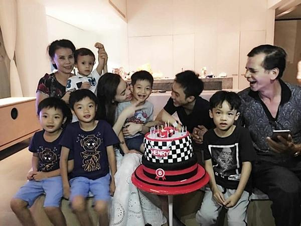 Hà Hồ và Cường Đô La cùng tổ chức sinh nhật cho Subeo.