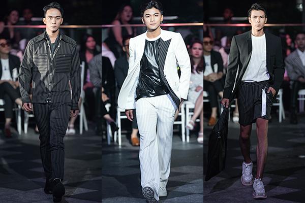 Các mẫu thiết kế năng động cho nam giới cũng được giới thiệu trong show.