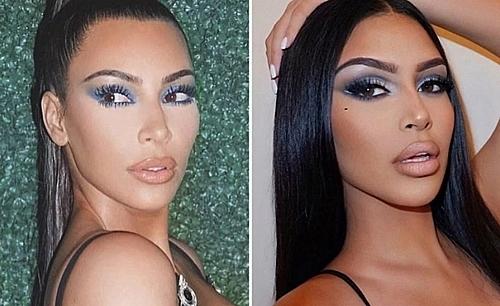 Cặp chị em trông giống hệt Kim siêu vòng ba và em gái tỷ phú Kylie Jenner - 1