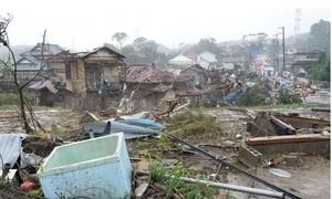 Dấu vết trận tàn phá của siêu bão Hagibis
