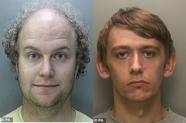 Matthew Falder (trái) và Kyle Fox đã bị bắt.