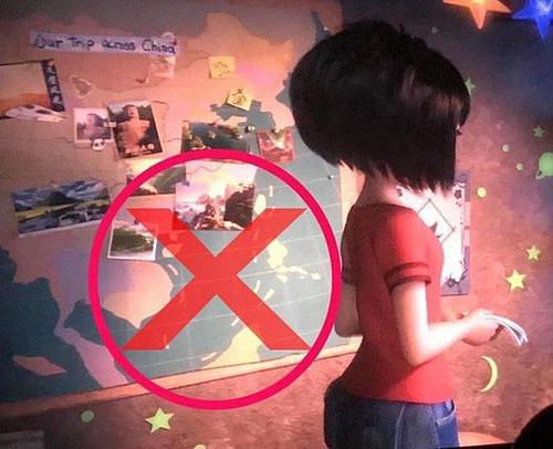 Đường ranh giới do Trung Quốc đơn phương công nhận được cài cắm trong phim Người tuyết bé nhỏ.