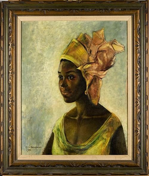 Bức tranh Christine của danh họaBen Enwonwu.