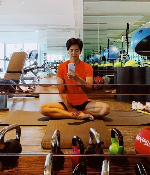 Lee Seung Gi chăm chỉ tập gym để giữ vóc dáng săn chắc.
