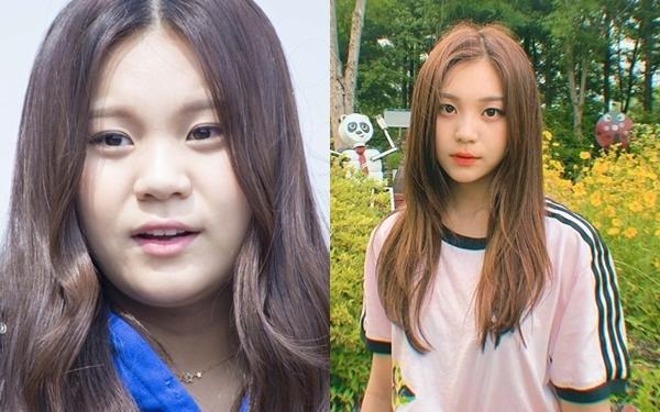 Umji (GFriend) từng bị chê là nữ idol xấu nhất Kpop. Sau thời kỳ quảng bá Fingertip năm 2017, cô đã giảm 5kg. Giờ đây, khuôn mặt Umji thường nhận lời khen về vẻ thanh thoát, cuốn hút. Kiểu tóc và cách trang điểm thời thượng cũng giúp Umji lột xác.