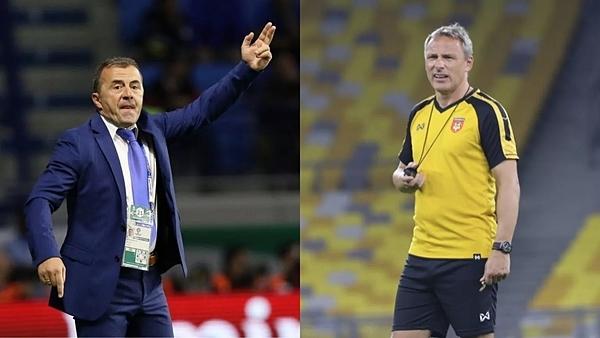 Ông Antoine Hey (phải) sẽ thay thế HLV người Montenegro, Miodrag Radulovic, dẫn dắt Myanmar.