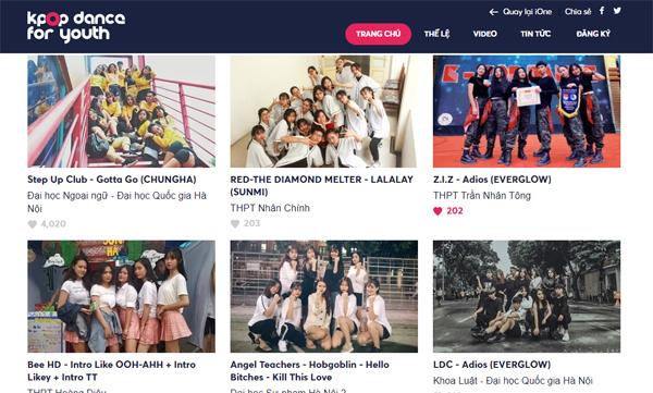 Các đội thi tuần 3 vòng Online Kpop Dance For Youth.