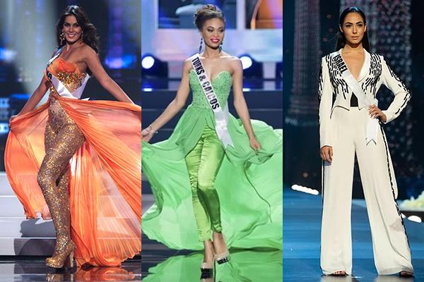 Một số thí sinh Miss Universe từng mặc quần ở phần thi Dạ hội.
