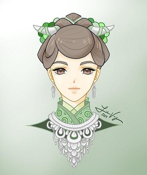 12 cung hoàng đạo với tạo hình thiếu nữ Hmong - 1