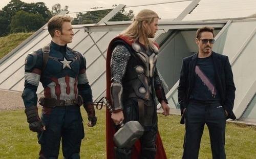 Cảnh phim trong Avengers: Age of Ultron...