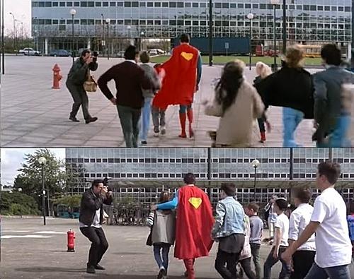 Một nhiếp ảnh gia đã tái hiện lại cảnh trong phim Superman IV.