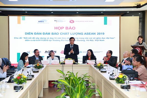 Họp báo diễn đàn đảm bảo chất lượng Asean 2019.