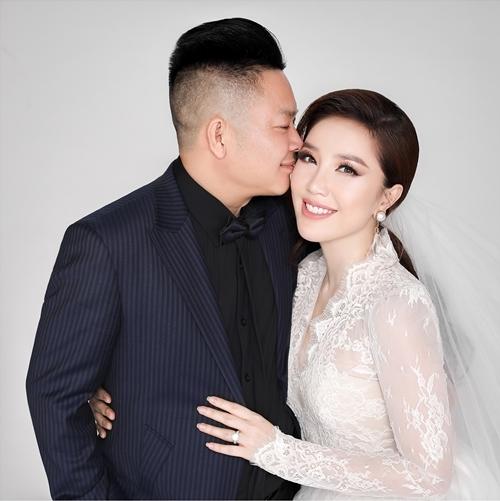 Bảo Thy và chồng sắp cưới.