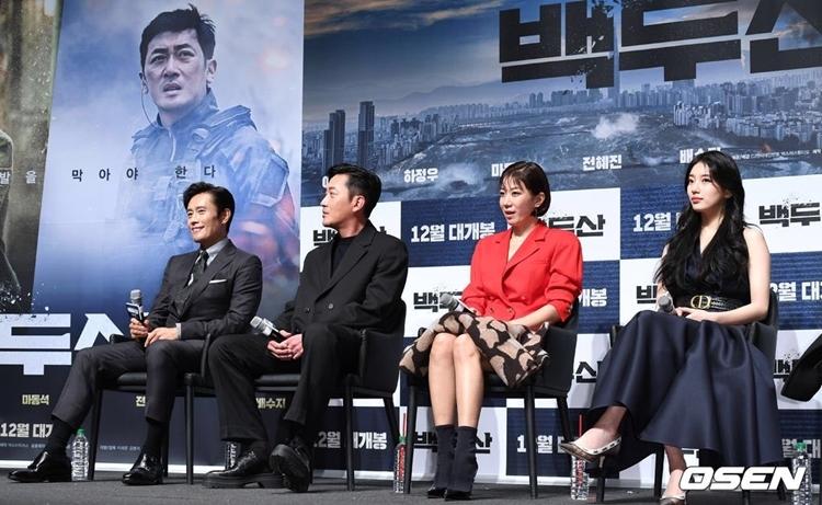 Từ khi công bố dàn diễn viên vào cuối 2018, dự án Mount Baekdu đã thu hút sự chú ý của khán giả. Đây là bộ phim điện ảnh quy tụ những tên tuổi thực lực, là bảo chứng phòng vé của màn ảnh rộng xứ Hàn. Chi phí làm phim ước tính lên đến 20 tỷ won.Mount Baekdu sẽ công chiếu vào ngày 1812.