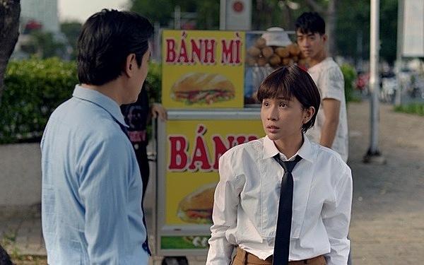 Cuộc đụng độ giữa Khả Như - Kiều Minh Tuấn trong phim.