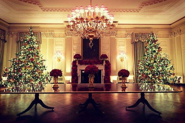 Đệ nhất phu nhân Mỹ trang hoàng Nhà Trắng mùa Giáng sinh - 1