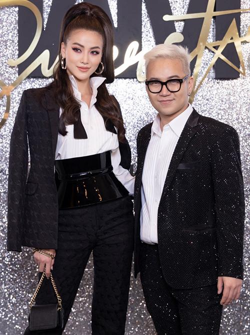 Hoa hậu Phương Khánh cùng NTK Chung Thanh Phong.