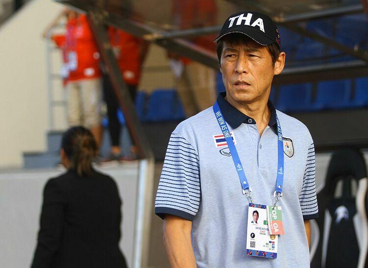 HLV U22 Thái Lan, Akira Nishino. Ảnh: Siam Sport.