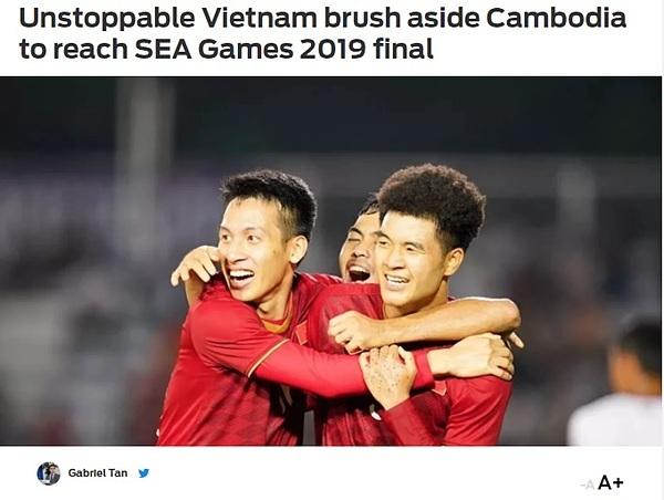 Fox Sports bình luận về chiến thắng của U22 Việt Nam trong trận thắng trước Campuchia.