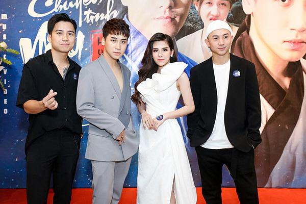 Mạnh Quân (bìa trái) và Anh Vũ (bìa phải) là bạn bè thân thiết với Huy Cung ngoài đời.
