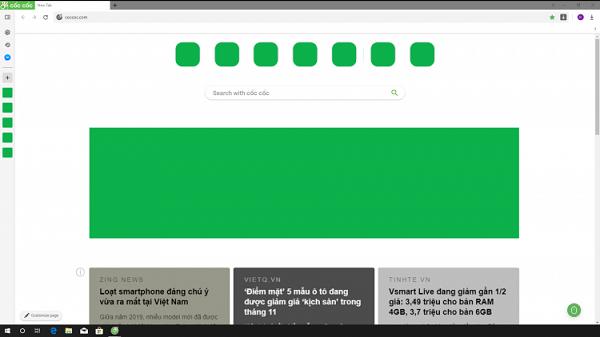 Người dùng có thể đọc tin tức ngay khi mở tab mới trên trình duyệt