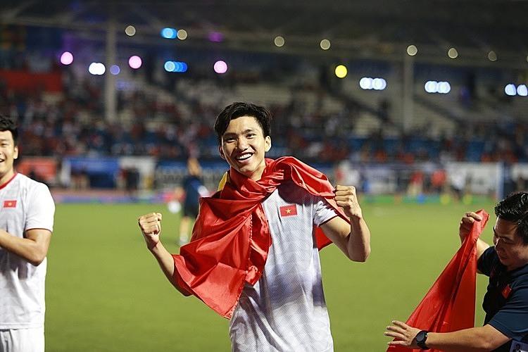 Văn Hậu có một mùa SEA Games thành công. Ảnh: Lâm Thỏa.