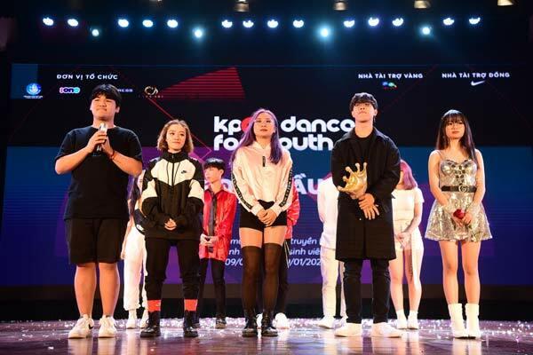 Top 5 đội thi vào chung kết Kpop Dance For Youth.