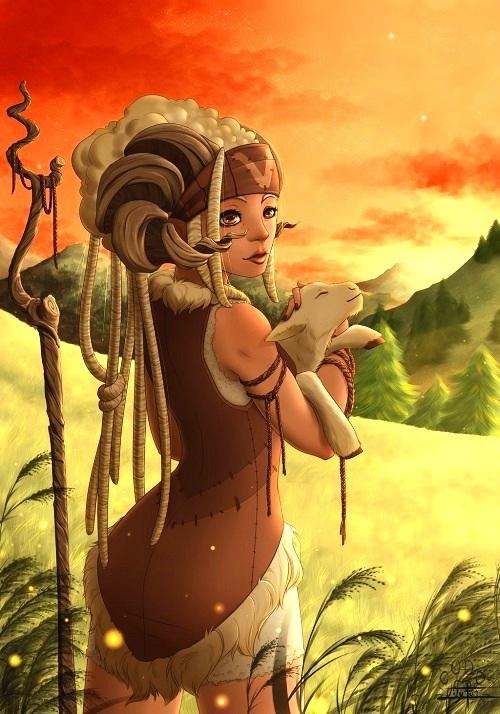 Bạch Dương trong hình dáng một cô gái vùng thảo nguyên với nét đẹp hoang dại, thuần khiết.