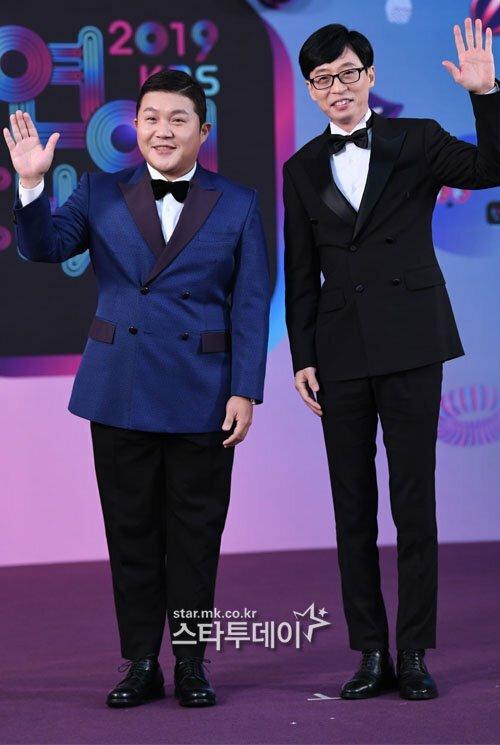 Bộ đôi MC Happy Together Yoo Jae Suk và Cho Sae Ho.