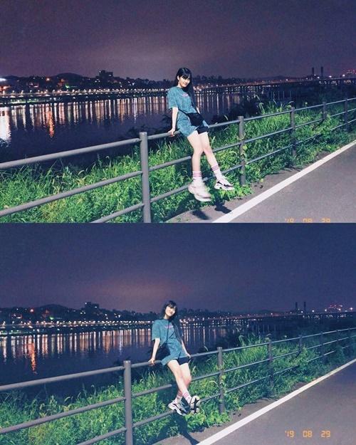 Minnie (G)I-DLE chia sẻ khoảnh khắc vui vẻ khi dạo chơi bên sông Hàn.