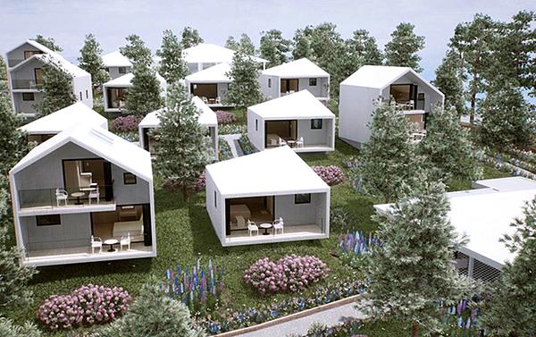 Resort của Lý Nhã Kỳ có tổng diện tích mặt sàn là 7.000 m2, gồm 16 căn villa, có khu vực tiệc ngoài trời với sức chứa 100 khách. Mỗi villa đều có vườn riêng và nhà hàng bên trong.