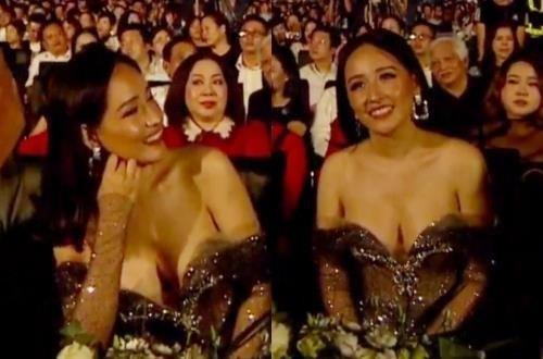 Với tư cách là một thành viên ban giám khảo, Hoa hậu Việt Nam 2006 thường xuyên được ống kính lia tới. Tuy nhiên trong nhiều khoảnh khắc, bộ váy lả lơi khiến người đẹp gần như lộ vòng một trên sóng truyền hình trực tiếp. Trước sự chỉ trích của nhiều khán giả vì ăn mặc hở hang không phù hợp, Mai Phương Thúy giải thích do góc quay. Cô còn hứa lần sau sẽ trùm kín để không gây ra sự cố tương tự.
