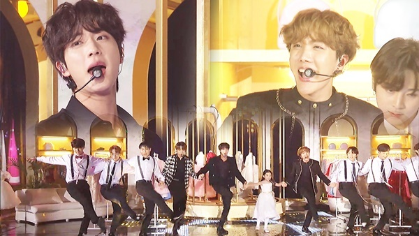 iên khúc mừng Giáng sinh của BTS là một trong những phần biểu diễn được chờ đợi nhất SBS Gayo Daejun 2019. Các ca khúc được biểu diễn gồm Jung Kook - Oh Holy Night, Suga, V - Jingle Bell Rock. RM, Ji Min - Santa Claus Is Coming To Town, Jin, J-Hope - Feliz Navidad, BTS - Silent Night Holy Night. Các chàng trai kết hợp cùng một diễn viên nhí và khiến fan tan chảy bằng những hành động vô cùng dịu dàng với em nhỏ.