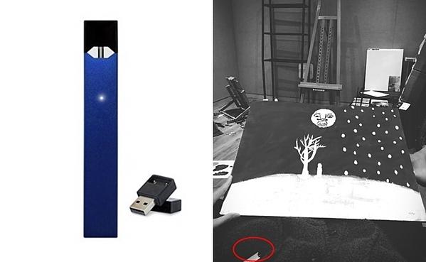 Trước đây, V cũng từng đăng ảnh vẽ tranh trong đó xuất hiện đồ vật giống với thuốc lá điện tử.