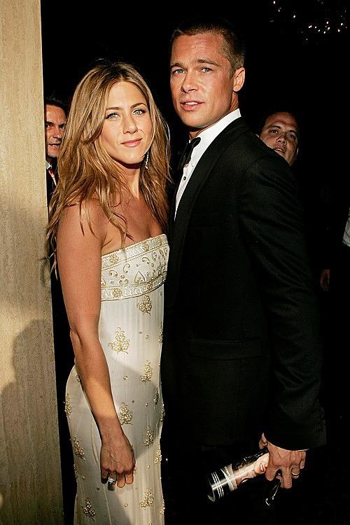 Brad Pitt và Jennifer Aniston thời còn mặn nồng. Ảnh: FilmMagic.