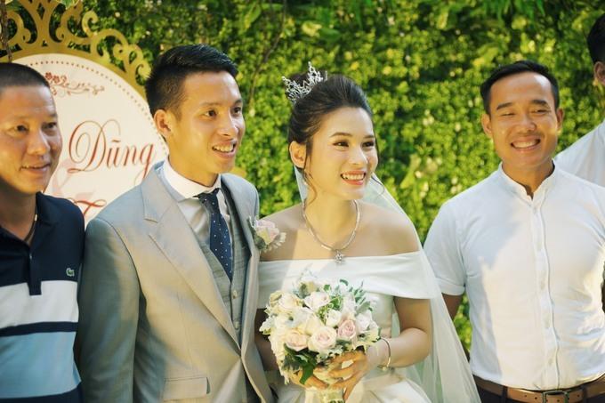 Đỗ Hùng Dũng trong đám cưới tháng 4/2019.
