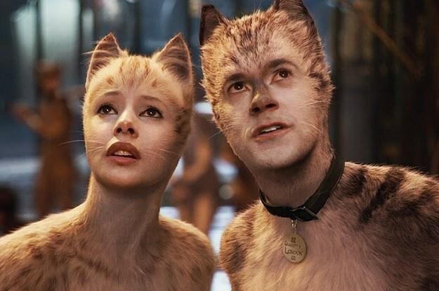 Các diễn viên được phủ lông, gắn thêm ria mép, tai và đuôi như mèo thật.