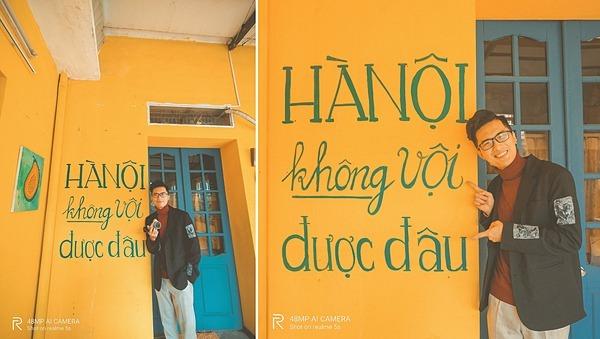 Hà Nội không vội được đâuKhác với sự hối hả Sài Gòn, Hà Nội cũng hối hả nhưng theo một cách nhịp nhàng,lắng đọng. Câu nói Hà Nội không vội được đâunhưđúng với người dân đất Hà thànhđiềm nhiên, tĩnh lặng trong cách sống, trong cách ở và trong cả cách thưởng thức ly café.Địa chỉ:42 Đoàn Trần Nghiệp, Lê Đại Hành, Hai Bà Trưng