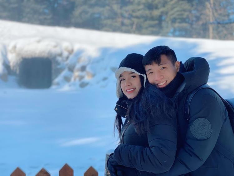 Vợ chồng Bùi tiến Dũng mới đi du lịch Hàn Quốc. Trong chuyến đi này hai vợ chồng đã đến thăm Xuân Trường.