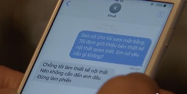 Tuy nhiên, Thái lại trả lời tin nhắn bằng điện thoại.