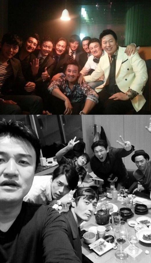 Nhóm bạn thân đình đám của làng diễn viên Hàn, trong đó cóJang Dong Gun, Joo Jin Mo.