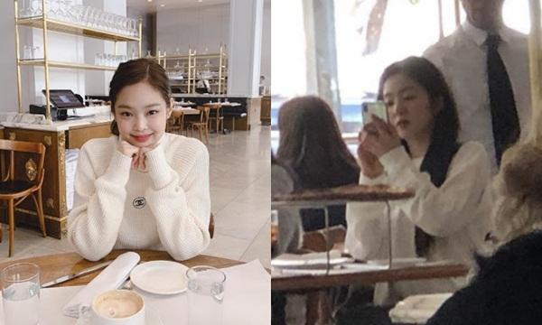 Bức ảnh trên instagram của Jennie là do Irene chụp khi cả hai đánh lẻ đi chơi.